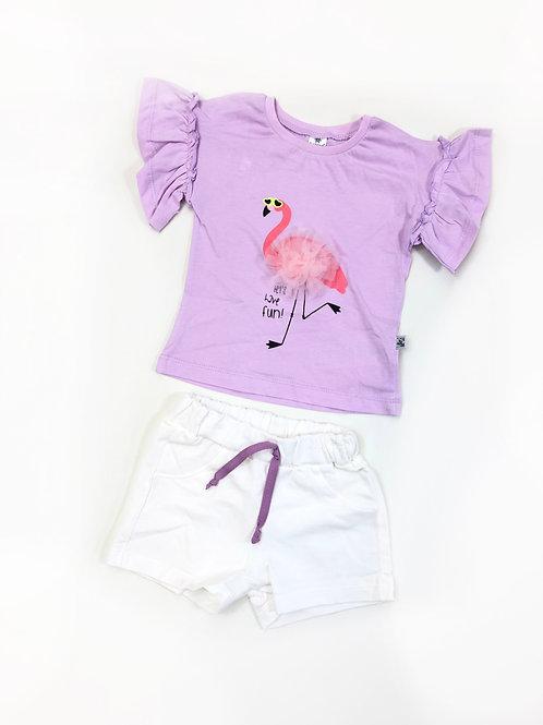 Sunny flamingo set Lila