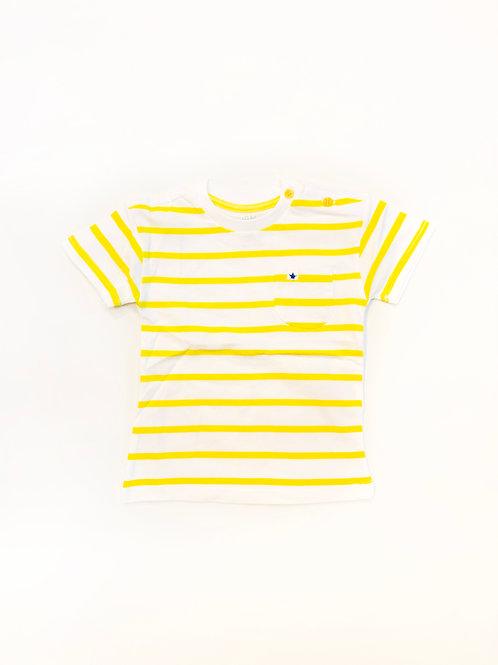 Gestreept shirtje geel