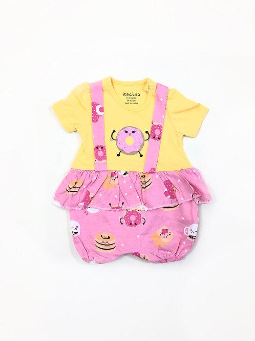 Donut girlsuit, yellow/pink