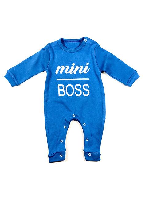 Onesie mini boss blauw