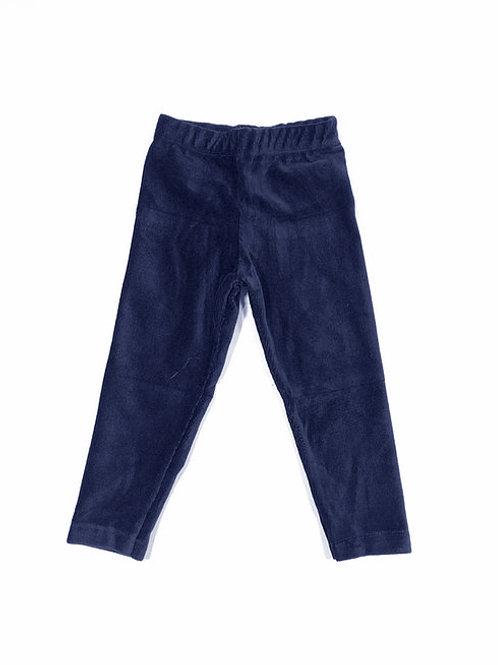 Ribfluweel legging medium blauw
