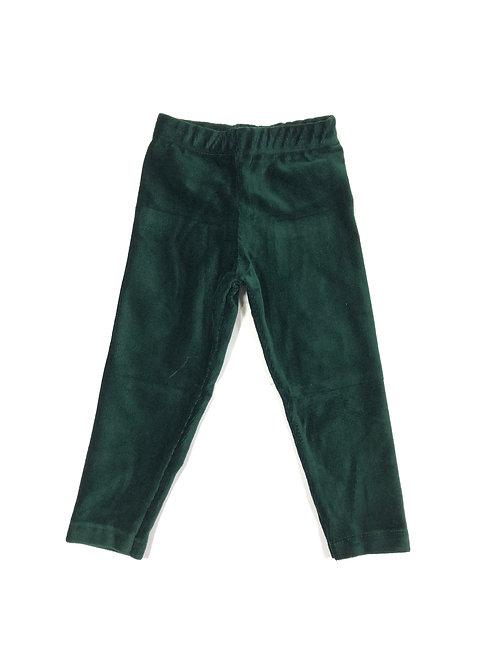 Ribfluweel legging groen