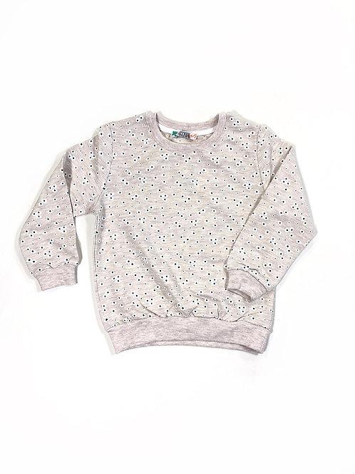 Sweater daisy's blauw