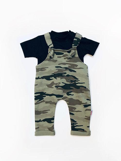 Army salopette + t-shirt