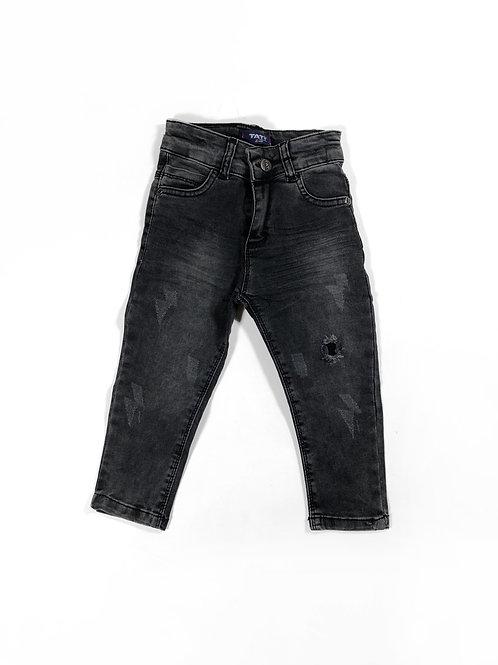 Skinny jeans grijs distressed