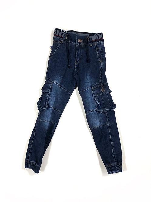 Cargo jeans met elastiek