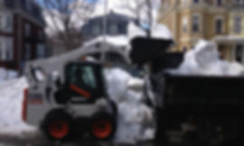 Skid Steer, Bobcat Services, Snow Hauling, Snow Removal, Snow Clearing, Snow Relocation