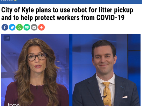 City of Kyle plans to use robot for litter pickup and to help protect workers from COVID-19