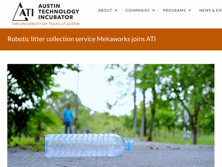 Robotic litter collection service Mekaworks joins ATI