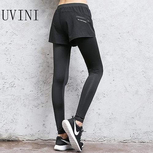 2 in 1 Yoga Pants Elastic Running Pant Fitness Slim Sport Pants  Yoga Pants