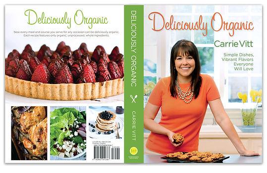 deliciously organic cookbook, book jacket