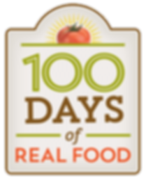 100 days of real food, logo design