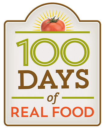 100 days of real food, logo design