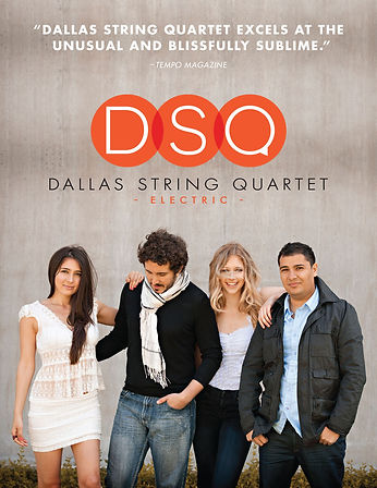 dallas string quartet, flyer front