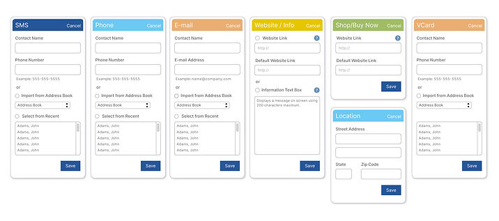 CTA Form Field Examples