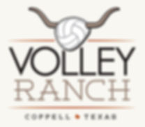 volley ranch, longhorn, volleyball, logo