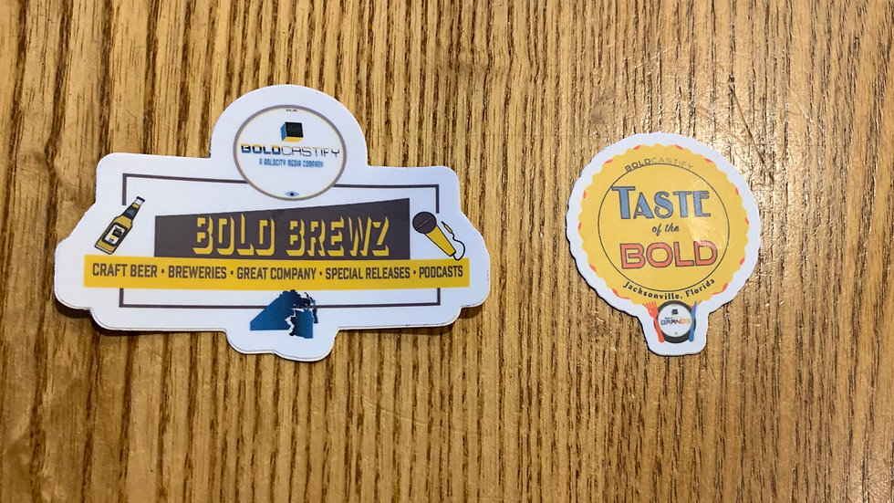 Boldcastify Taste and Brewz Stickers