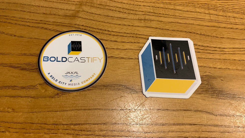 Boldcastify Media Co. Stickers
