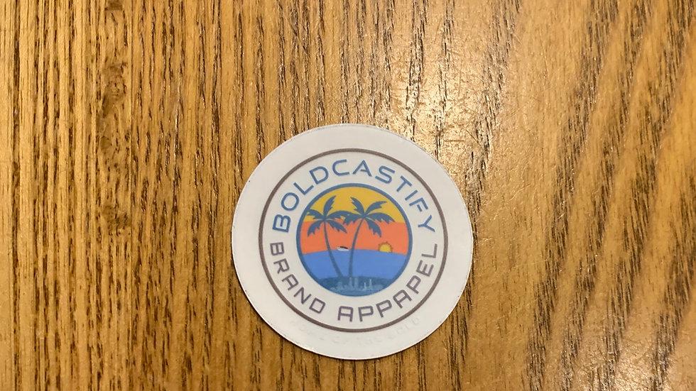 Boldcastify Brand Apparel Stickers
