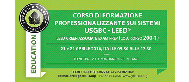 GREEN BUILDING COUNCIL ITALY FORMATION COURSE