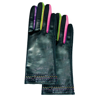 LEATHER MULTI COLOUR GLOVES