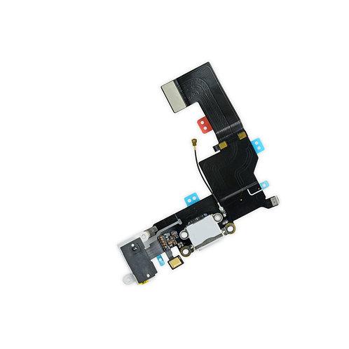 Шлейф разъем зарядки + разъем гарнитуры + микрофон (бел.черн).iPhone SE