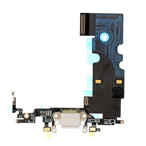Шлейф разъёма зарядки + микрофон (черный, белый) iPhone 8