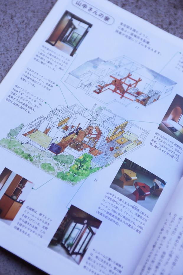 「暮しの手帖14号」:間取り図イラスト