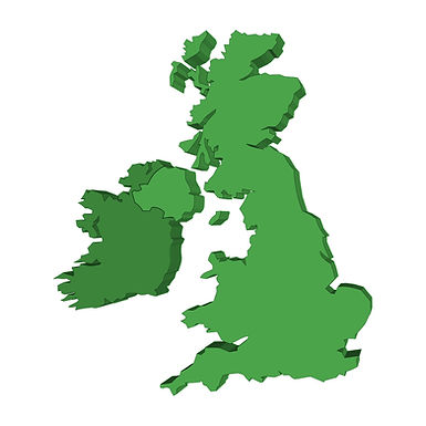 Isolated outline of UK and Ireland map i