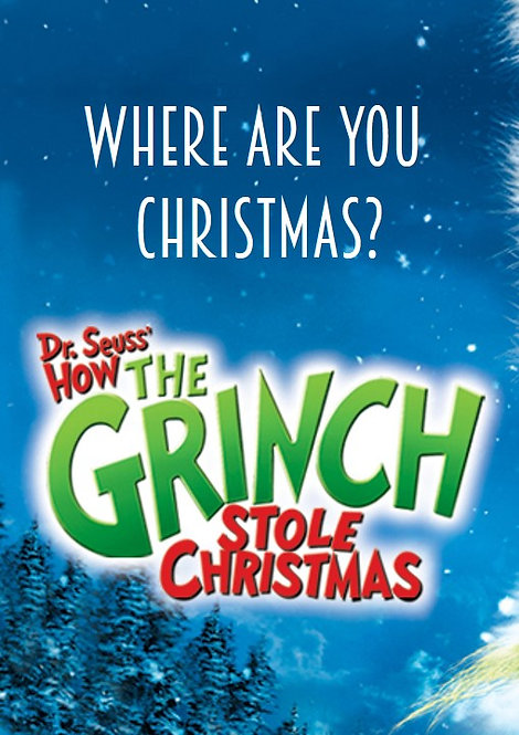 WHERE ARE YOU CHRISTMAS (Big Note)