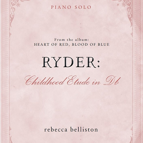 CHILDHOOD ETUDE IN Db: RYDER (Piano Solo/MP3)