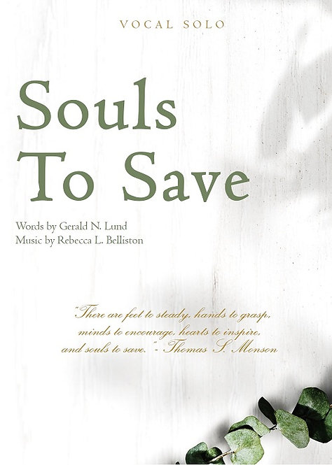 SOULS TO SAVE (Vocal Solo)
