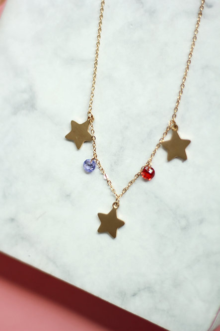 Cadena Estrellas bicolor