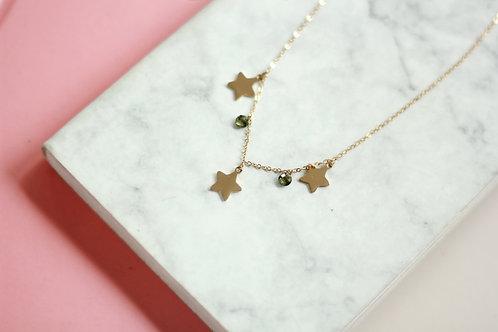 Cadena Estrellas verde