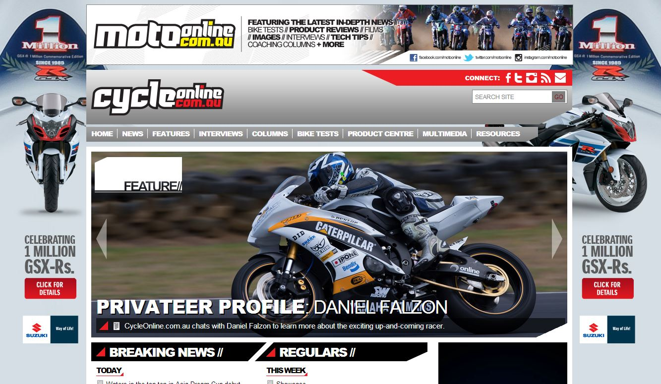 2013-04-23 CycleOnline Homepage