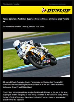 21/10/14 Dunlop Press Release