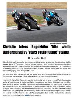 2009-11-23 Pheonix Club Race Report