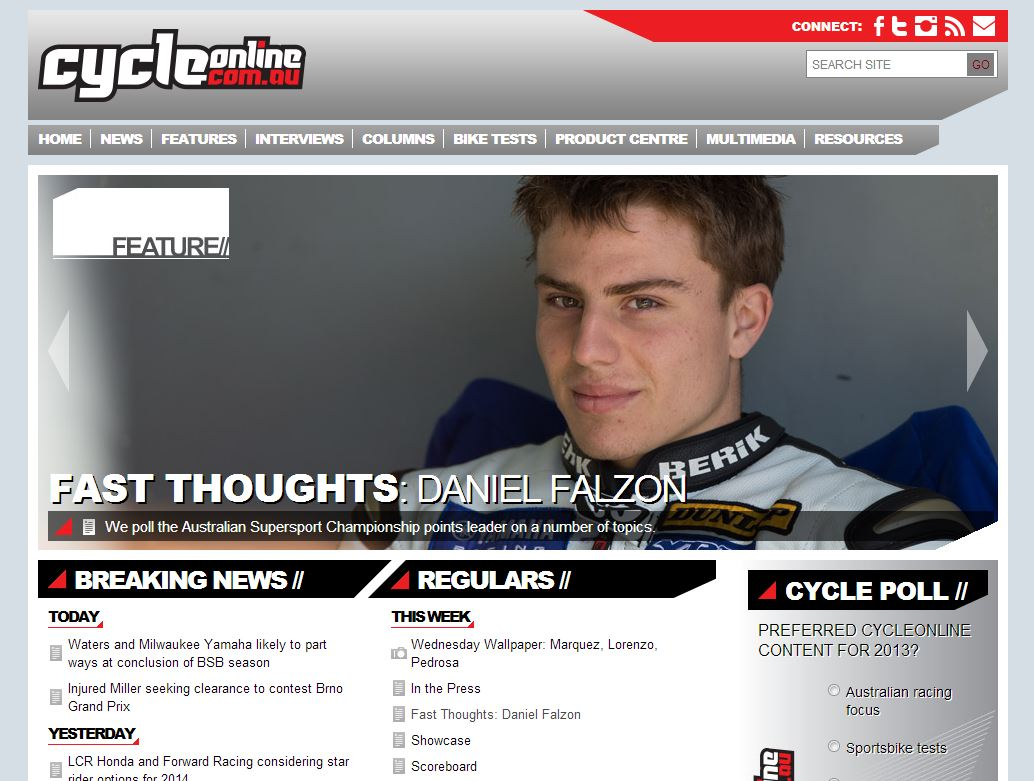 2013-08-20 CycleOnline Homepage