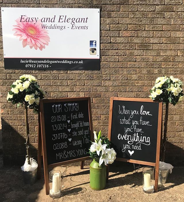 Chalkboards to hire with personalised wr