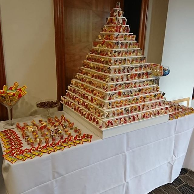 Our sweet pyramid ready for a wedding at