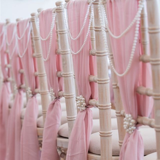 Our blush vertical drops on a wedding a