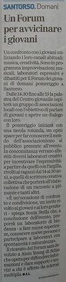"""""""Un Forum per avvicinare i giovani"""", articolo tratto da Il Giornale di Vicenza"""