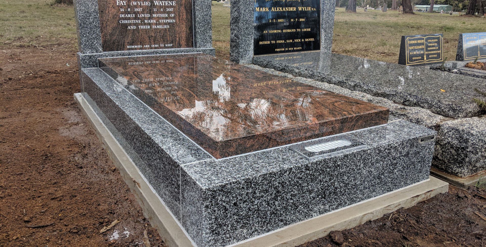 Mulicolor slab and headstone.jpg
