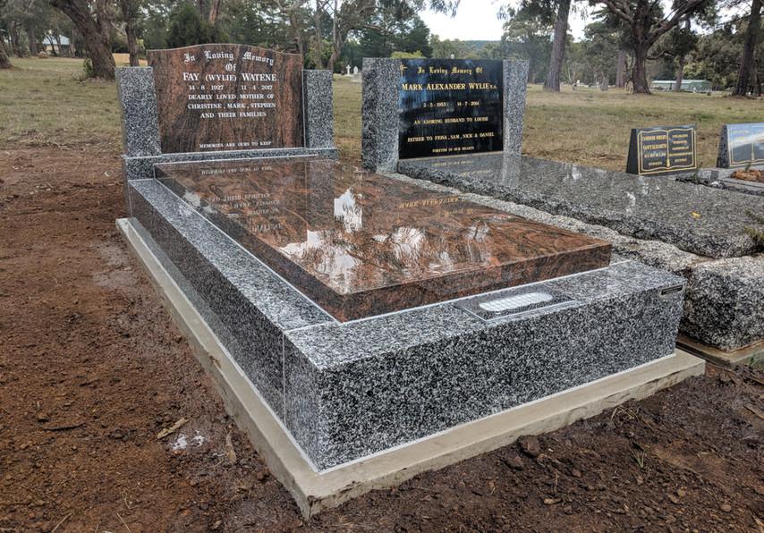 Mulicolor slab and headstone.jpg