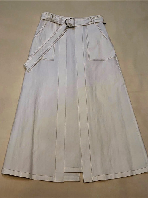 綿麻 Aラインスカート