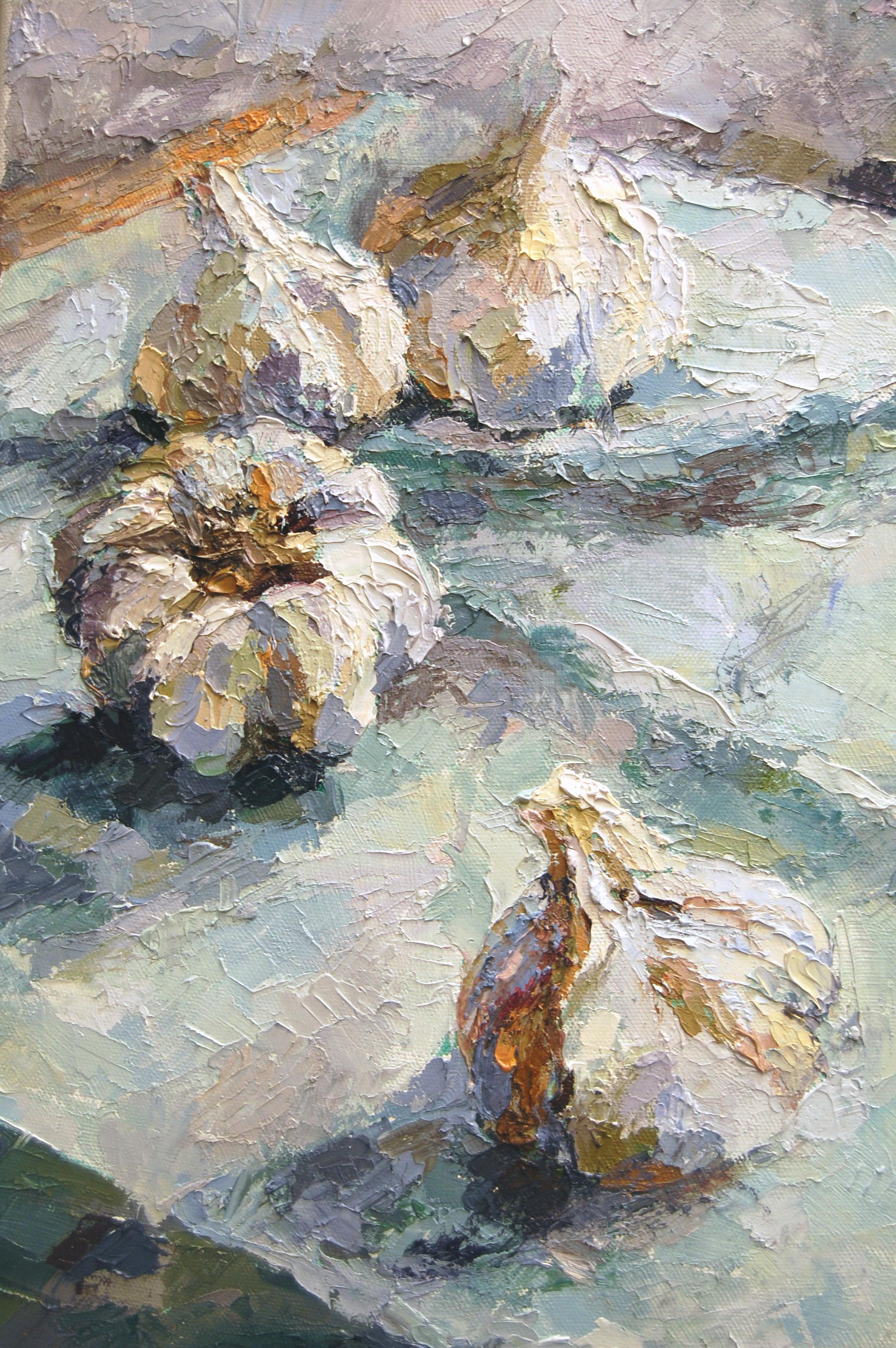 Four Garlic, Oil on canvas, 2011