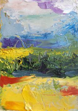 Bridgton, ME Landscape #5, Oil on paper, 2010