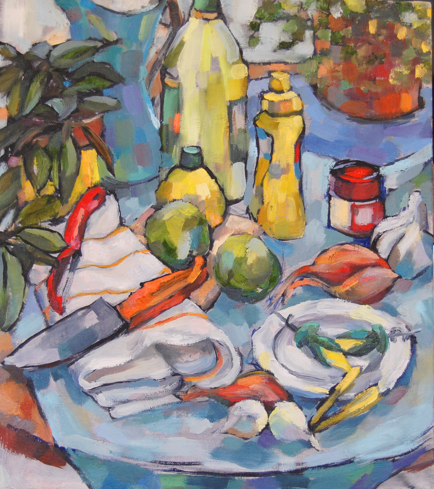 Still Life with Mustard, Oil on canvas, 2012