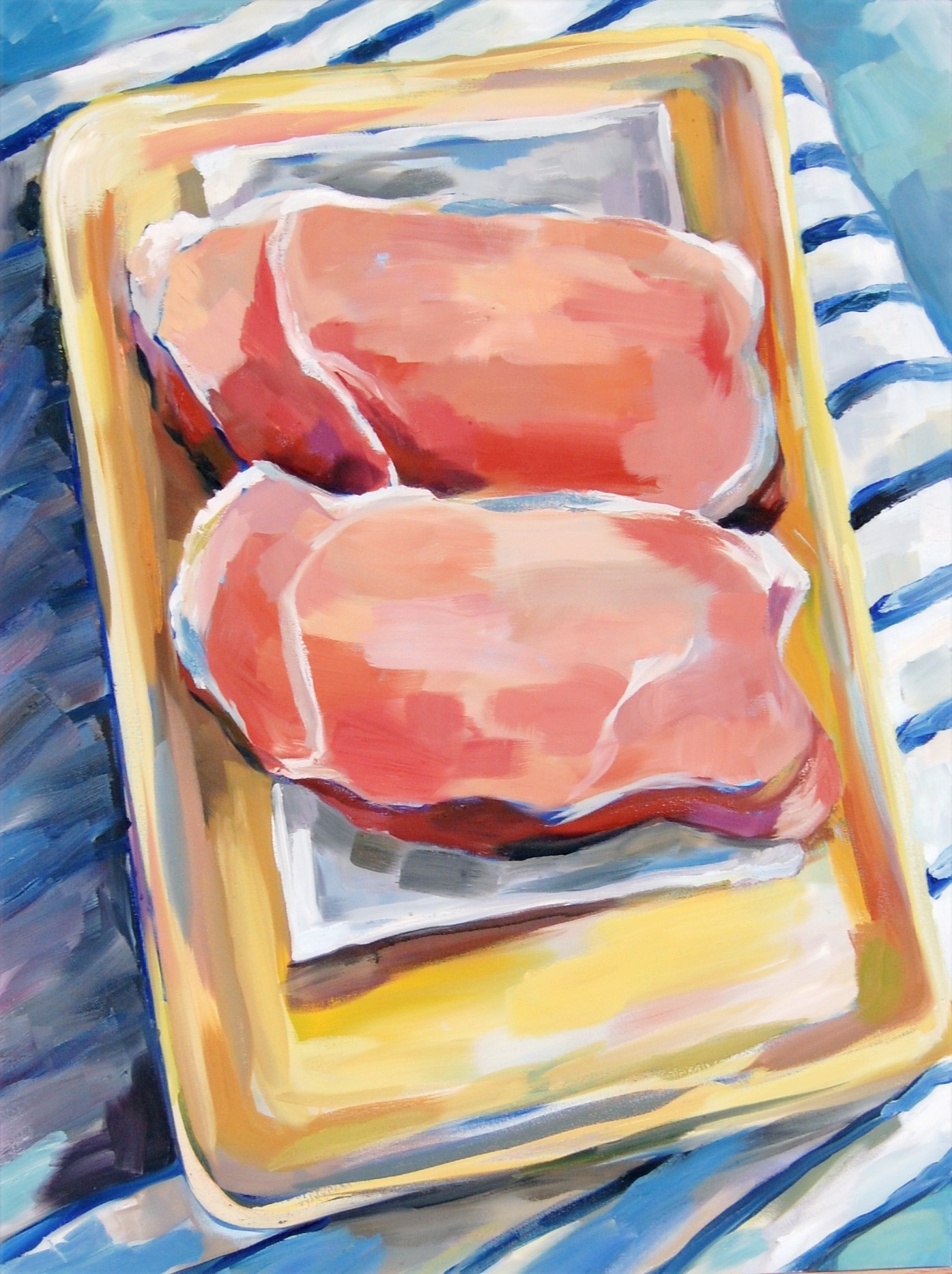 Supermarket Pink Pork, Oil on canvas, 014