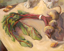 Still Life with Chard, Oil on canvas, 2011